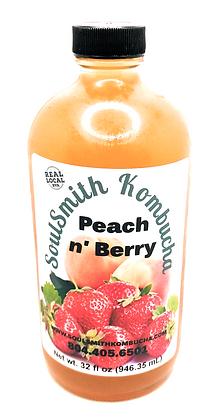 SoulSmith Peach N' Berry Kombucha 32 oz.