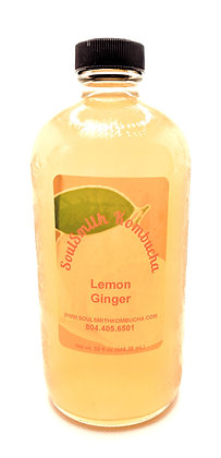 SoulSmith Lemon Ginger Kombucha 32 fl. oz.