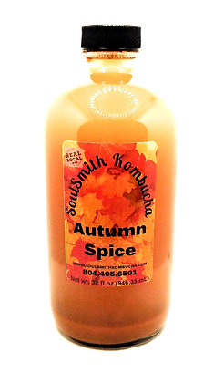 SoulSmith Autumn Spice Kombucha 32 fl. oz.