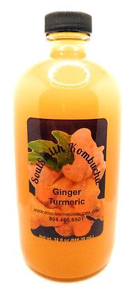 SoulSmith Ginger Turmeric Kombucha 32 fl. oz.