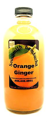SoulSmith Orange Ginger Kombucha 32 fl. oz.
