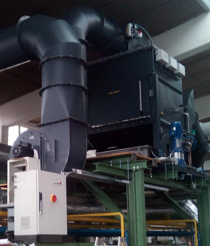 Elektrofilter zur Abluftreinigung an Textilmaschinen
