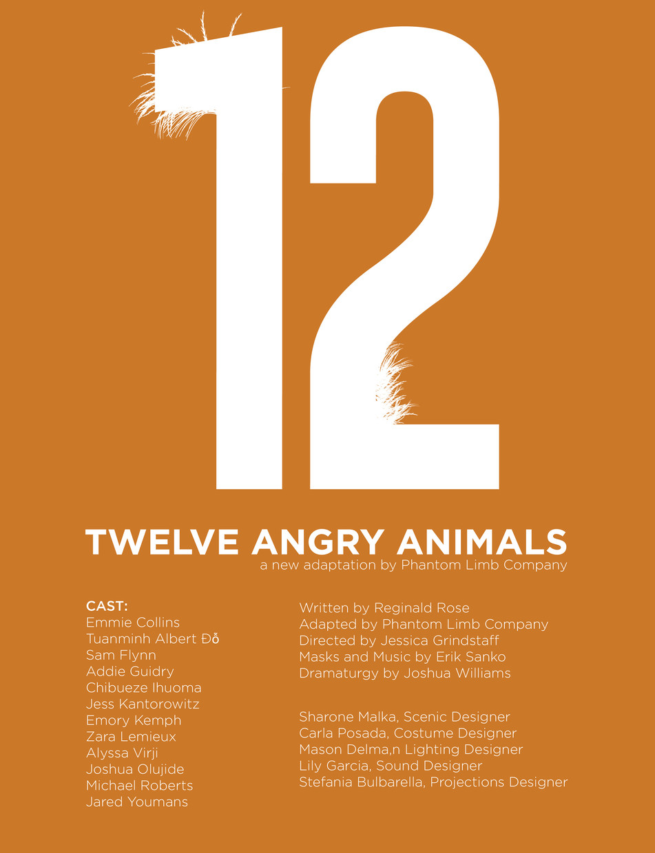 12 Angry Animals, Fall 2019