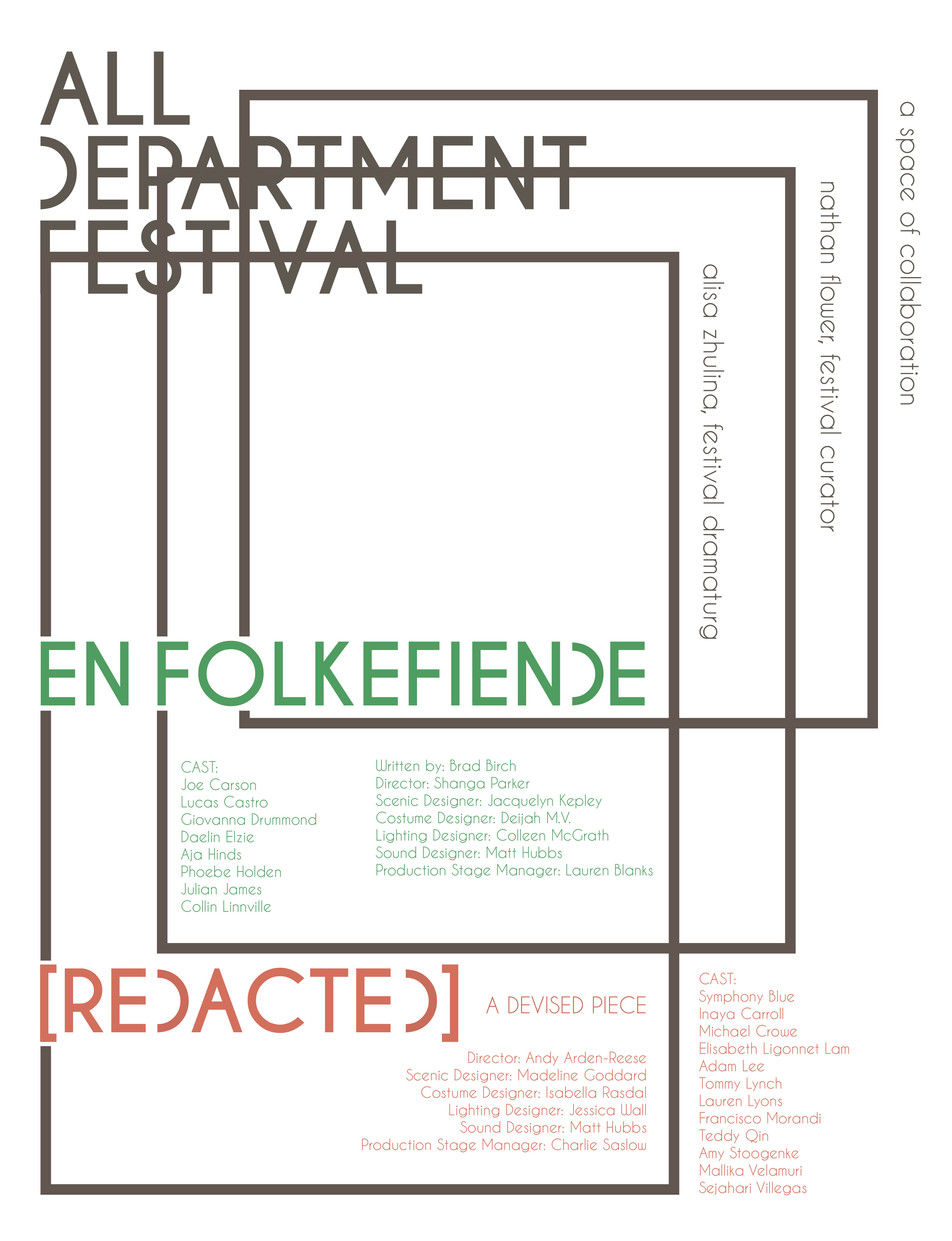All Department Festival, Fall 2019