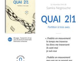 """A PARAITRE le 14 avril 2019 - """"Quai 2I1"""""""