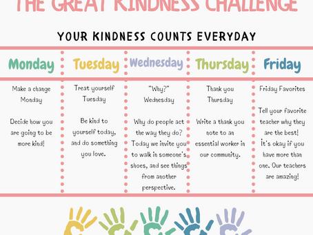 It's the Great Kindness Challenge, ICSAtlanta!