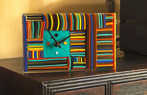 Colour block clock