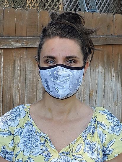 Face Masks (Adjustable Straps) / Black Reversible