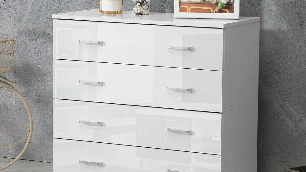 High Gloss 4 Drawer Cabinet