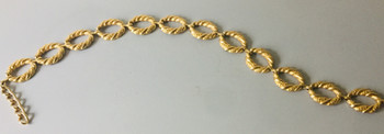 80s Huge Goldtone Chain Belt
