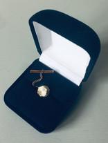 60s Diamond Cut Goldtone Tie Pin