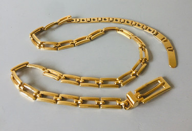 SOLD 90s Goldtone Metal Belt