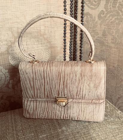 Vintage Leather Box Handbag
