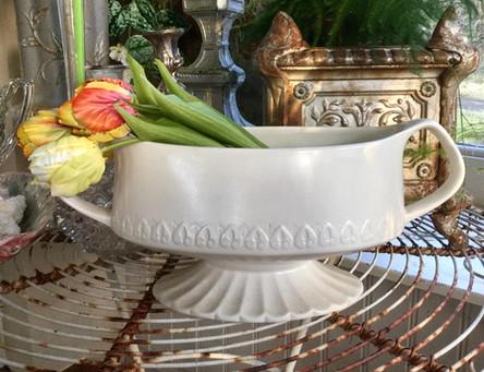 Vintage Stoneware Planter/Dish with Handles