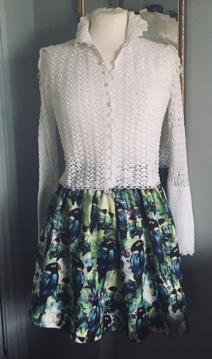 Vintage Hand Crochet Cotton Sweater