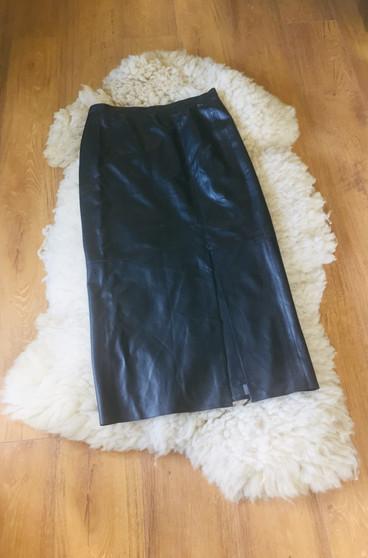 70s Black Leather skirt 'Horst Basler'