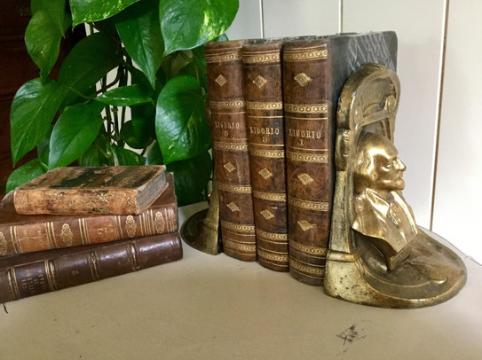 Pair of Antique Brass Bookends