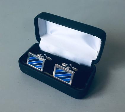 70s Enamelled Cufflinks with Original Box