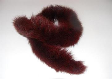 60s Burgundy VINTAGE Fur Collar