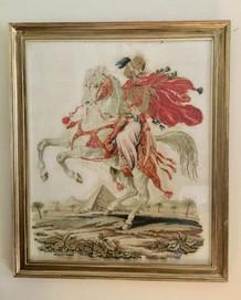 SOLD Victorian Framed Needlework Tapestry