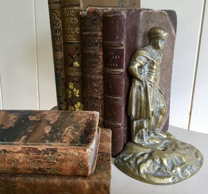 Pair of Vintage Brass Bookends