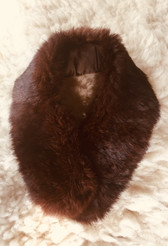 50s Chestnut Brown VINTAGE Fur Collar