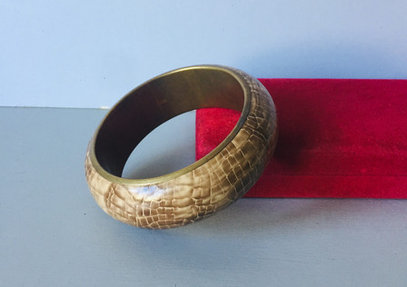 Vintage Faux Snakeskin Bangle