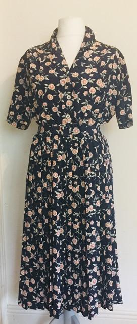 80s 'Eastex' 40s Style Tea Dress