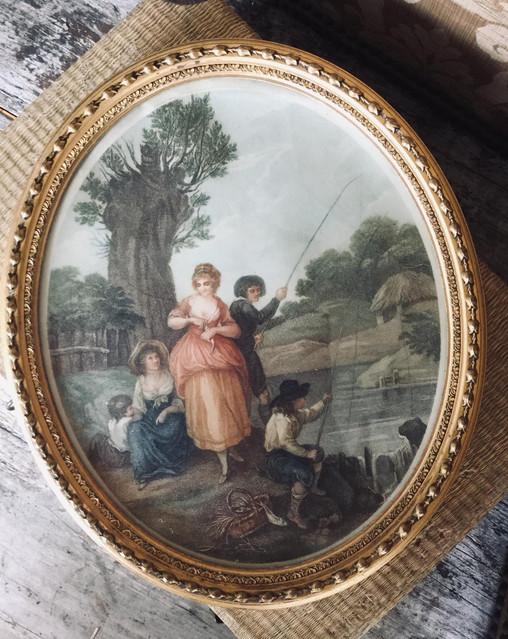Antique Oval Framed Print