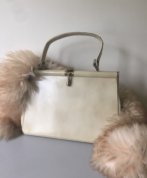 50s Creme Leather bag