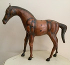 SOLD Antique Leather Horse