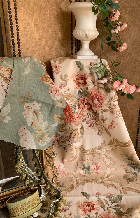 Pieces of Vintage Designer Fabric - Ralph Lauren and Mulberry