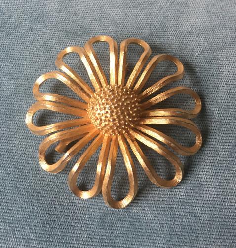 60s Large Flower Brooch