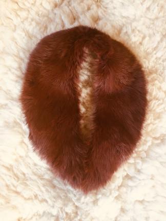 SOLD 60s Auburn VINTAGE Fur Collar