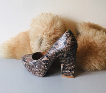 Handmade Snakeskin Leather Court Shoes by Jeffrey Campbell California