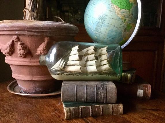 Antique Ship Model in a Bottle