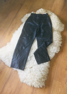 80s Black Leather Trousers ' Country Casuals'