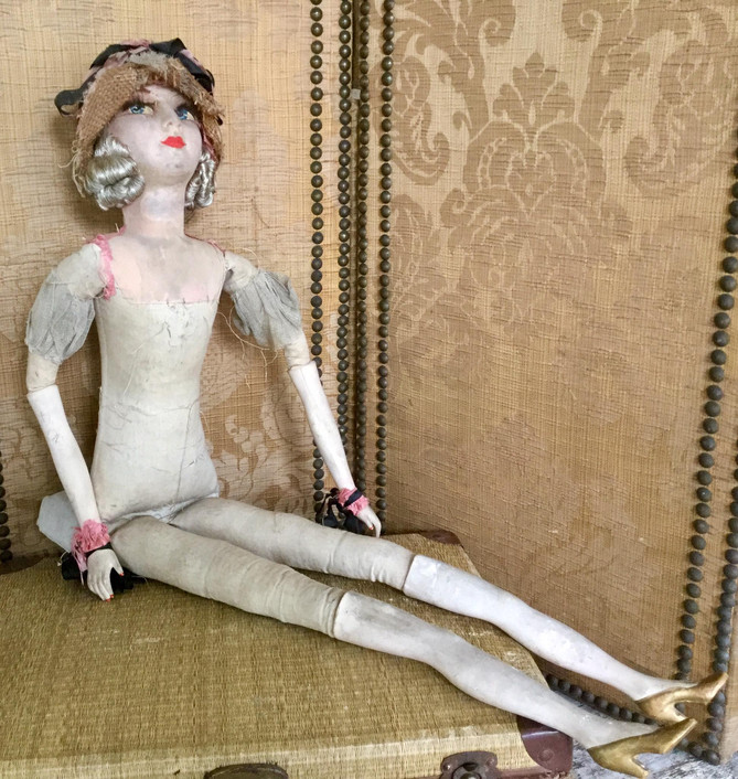 SOLD 20s Original French Boudoir Doll