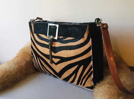 Bespoke Hair on Hide Zebra Print Bag