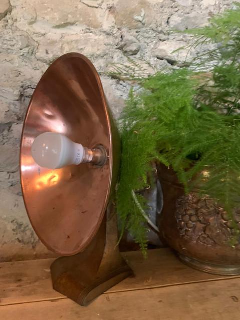 SOLD - Art Deco Copper Desk Lamp