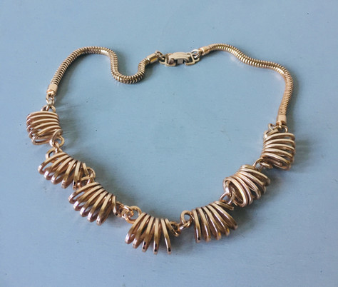 70s Rose Goltone Necklace