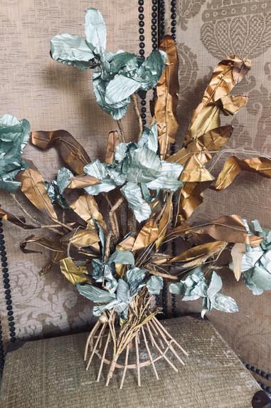 Antique French Metallic Flowers
