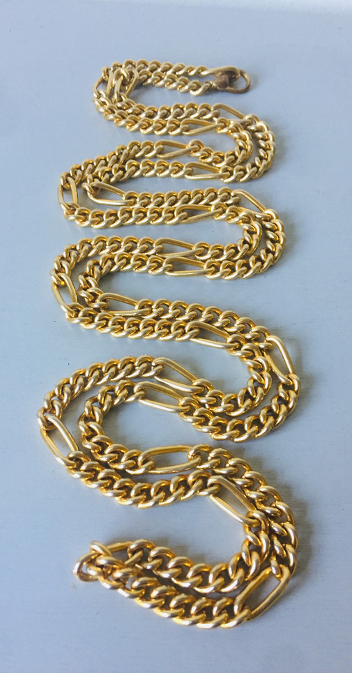 80s Long Chunky Goldtone Chain