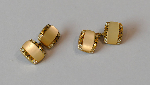 SOLD Art Deco Mother of Pearl Cufflinks