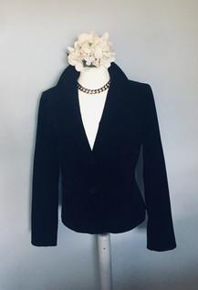 80s 'Lauren.J' Black Suede Fitted Jacket