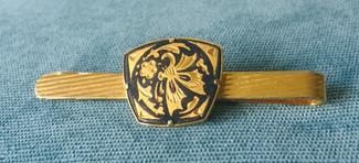 60s Damascene Tie Clip