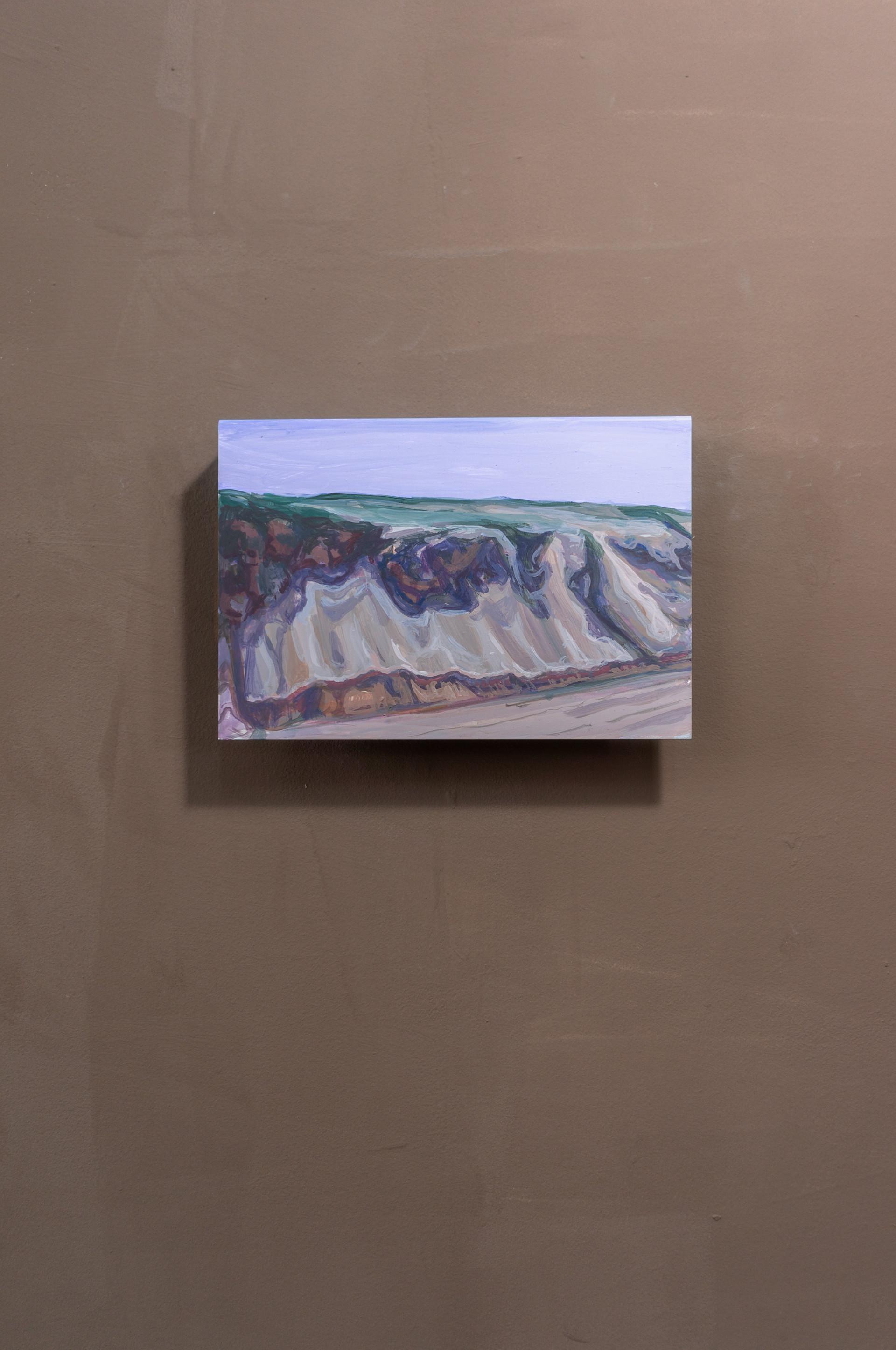 Dune #6, Acrylic on folded iron, 15 x 22 x 5 cm (2019)