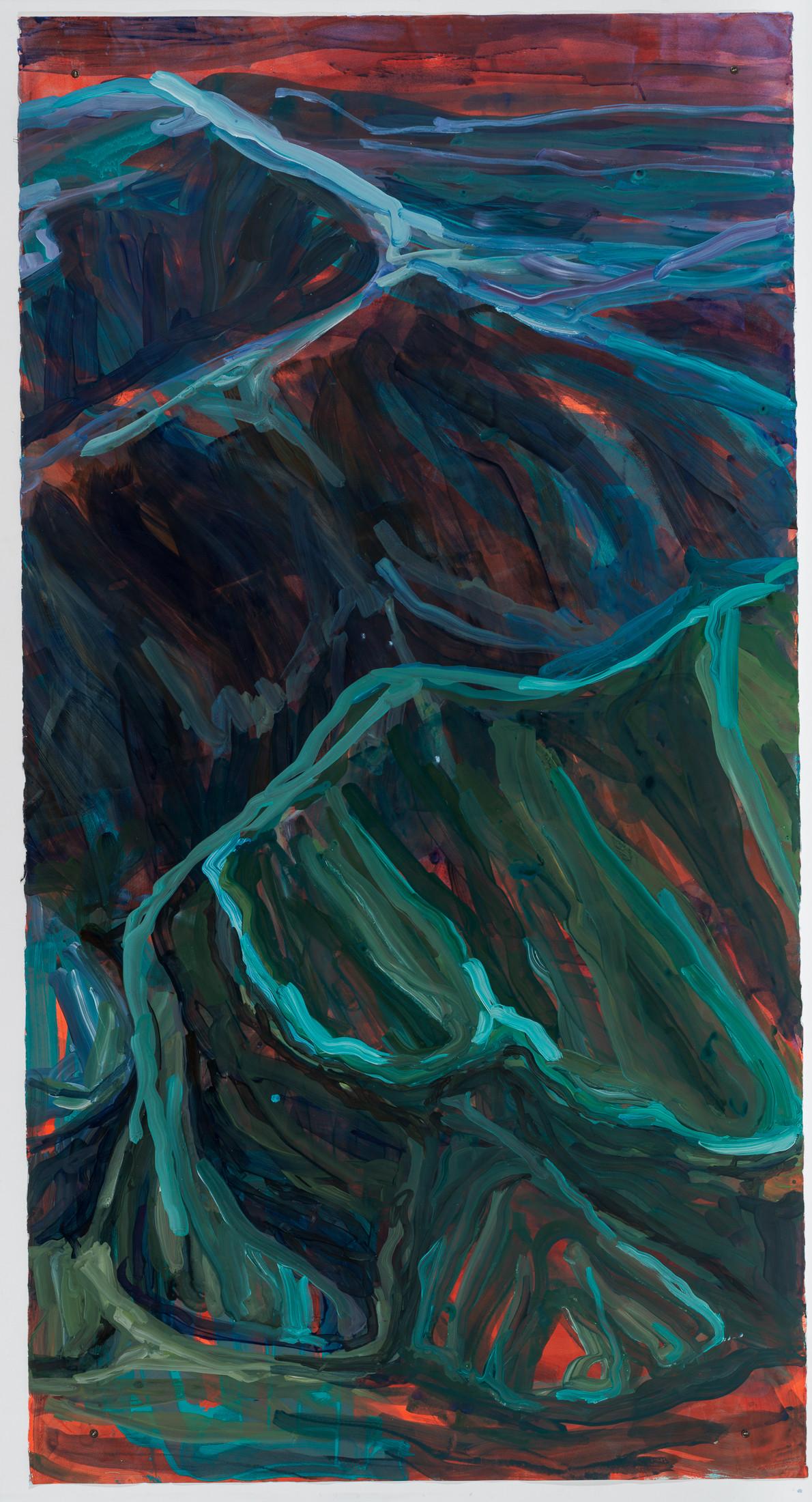 Liquid Sand, acrylic on watercolor paper, 250 x 130 cm DMF 2020