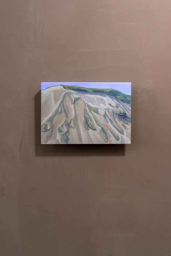 Dune, Acrylic on folded iron, 15 x 22 x 5 cm (2019)