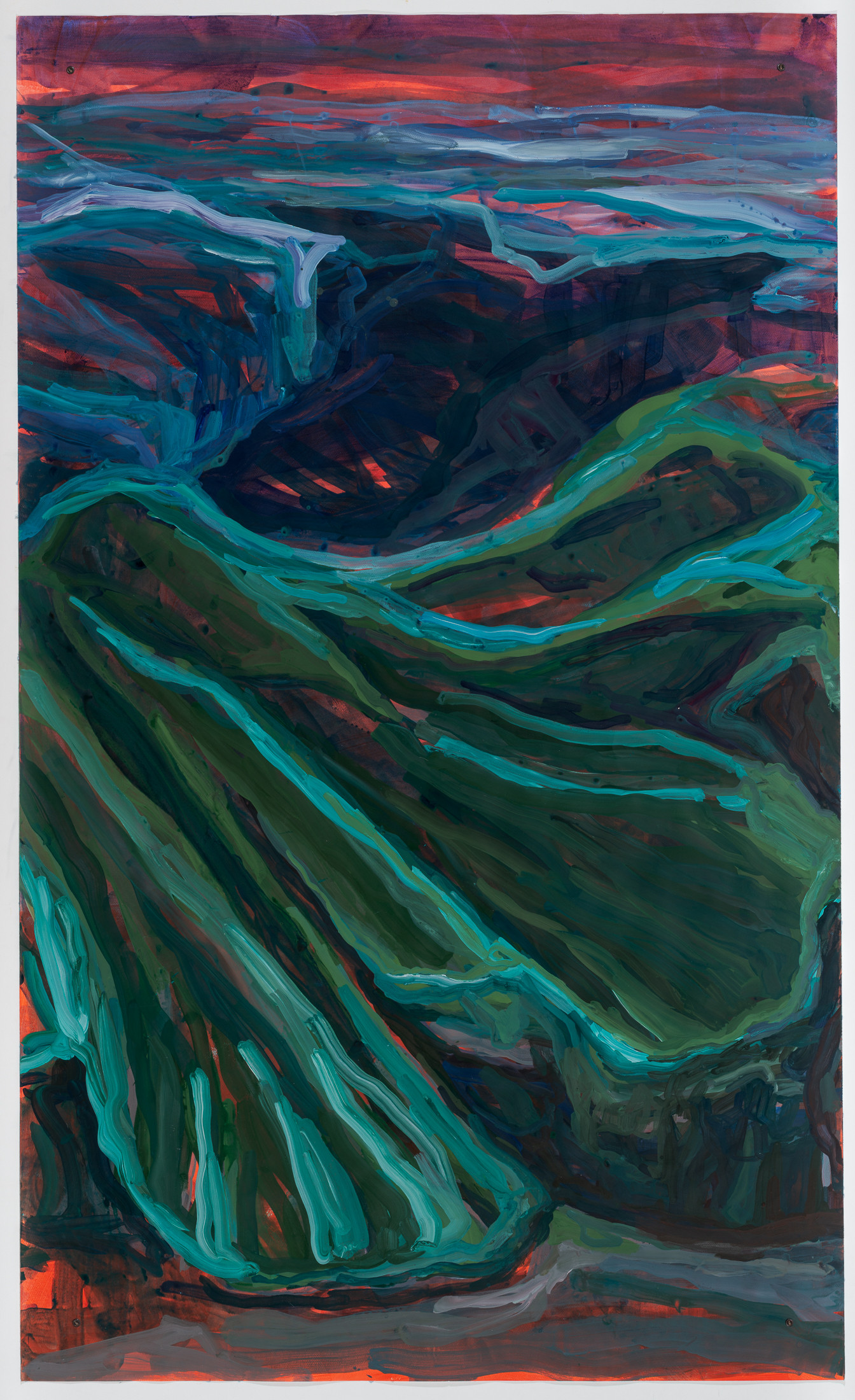 Liquid Sand, acrylic on watercolor paper, 250 x 150 cm DMF 2020